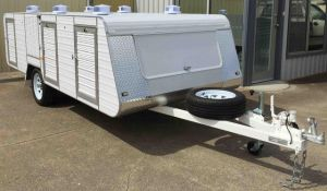 premium large 6 berth single axle